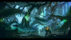 Diablo3 Fanart - Quest For The Treasure Goblin. by Exphrasis