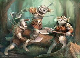 Pugmire: Badger Tribe by WillOBrien