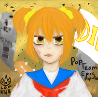 Popuko pop team epic by OhMyOhNoItsJunkie