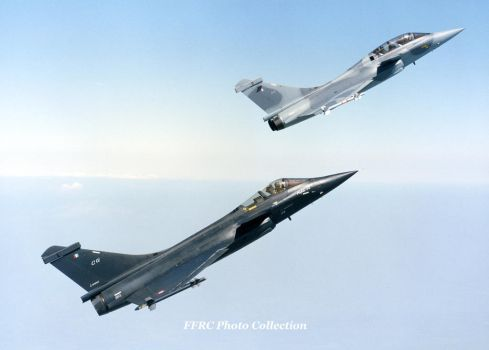 Rafale C01 and B01 in formation by fighterman35