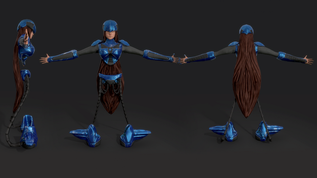 Cyborg game model by Mamaleen