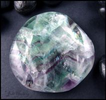 Rainbow Fluorite Palm Piece by andromeda