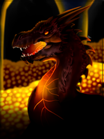 Smaug The Terrible (Fanart) by FanDragonBrigitha
