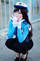 Officer D.Va from Overwatch Cosplay by RinnieRiot