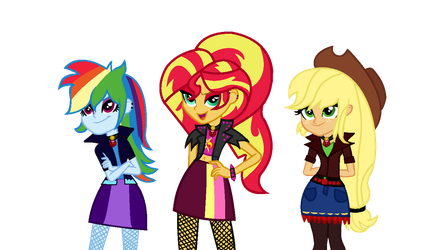MLP The Dazzlings We're Here To Sing! by SpeedPaintJayvee12