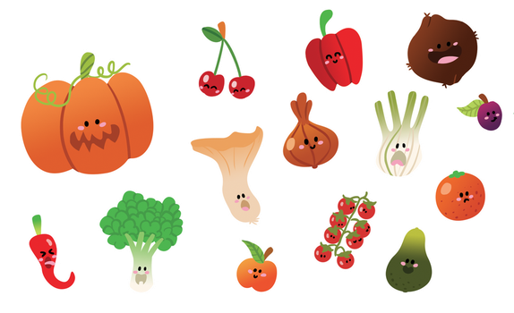 Fruits + Vegetables 2 by AmyBunny