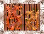 Wooden Dragon Collage by Vazpexa