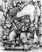 Rifts Chaos Earth Garbageman Zombie by ChuckWalton