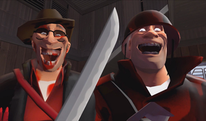 TF2: Painis Cupcake and Piss Cakehole Death smile by commanderjonas