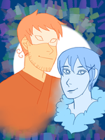 Fire King and Ice Queen by kayla1607kai