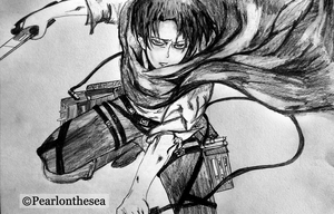 Attack on titan- Levi Ackerman by Pearlonthesea