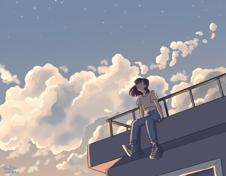 on the roof by sofiko-chan