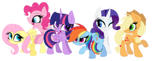 Mane six LPS style by Kaiilu