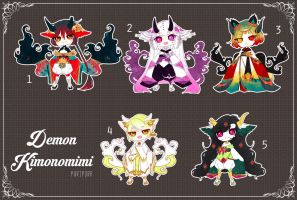 [CLOSED TY] Adoptable 117 - KIMONOMIMI AUCTION by Puripurr