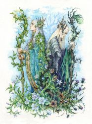Kings of Seelie and Unseelie Courts by Candra
