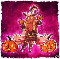 Lopunny-Gourgeist Fusion- Happy Halloween you all!