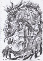 Fairy Tail Zeref and Acnologia by CainSin