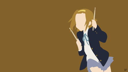 Ritsu Tainaka (K-On!) Minimalist Wallpaper by greenmapple17