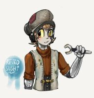 A smol Mechanic! by Retro-Sushi