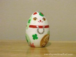 WIP Westernized Maneki Neko Ornament or Figurine by KazFoxsen