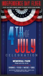 Independence Day Flyer Template by Hotpindesigns