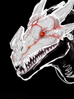RWBY - Grimm Dragon Head by Pulsarium