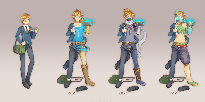 Commission: BotW Link transformation by Zellie669-commishes