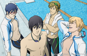 Swimming Anime by DeanGrayson