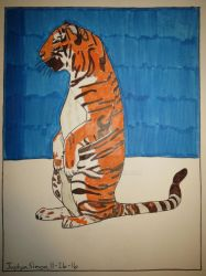 Standing Tiger by Justyn16