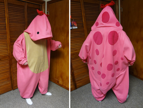 Pink quaggan kigurumi by Koreena