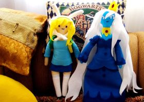 Adventure Time - Fionna and Ice Queen Plush (2) by YuureY