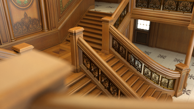 Grand Staircase DOF by Pret-A-3D