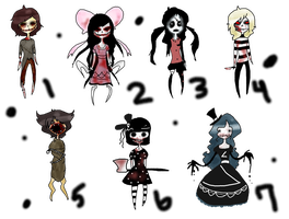 Creepy Monsters: OPEN by x-Rans-Lovs-Adopts-x
