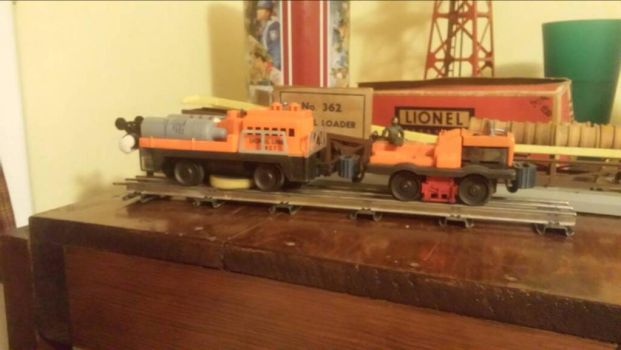 Lionel cleaning car and gang car by mariotg