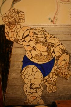 the thing  wall drawing by chicago-icee