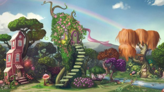 Jelibon Girls Houses by esandoval