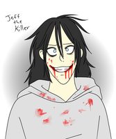 Jeff the killer (practice drawing) by SabSoul125