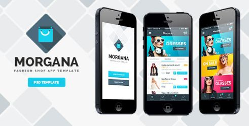 Morgana Fashion Shop - PSD App Template by odindesign