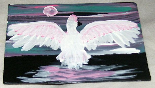Swan aceo for Turtlefairy by mintdawn
