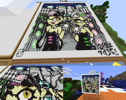 Splatoon- Squid Sisters Poster in Minecraft! by Platypusofdoom
