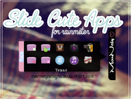Slide Cute Apps for rainmeter by MarNelyDesigns