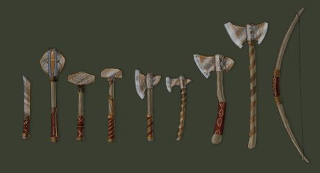NorthNe'n weapons by NatteRavnen