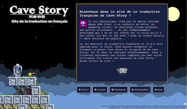 Cave Story Fan site design by maxlefou