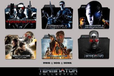 Terminator Complete Collection Folder Icon Pack by Bl4CKSL4YER