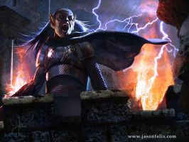 Vampire of the Domain -Magic The Gathering by jason-felix