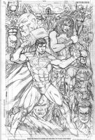 jla commish in progress by Kevin-Sharpe