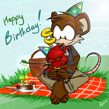 Happy B-Day, TheVirusAJG! by debrodis