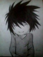 2012 drawing - L black and white :) by nielopena