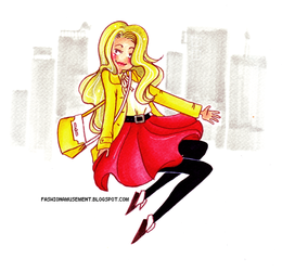 Yellow and red by FashionAmusement