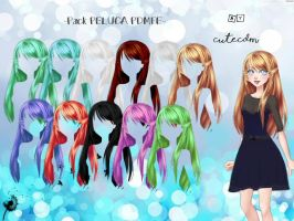 CDM PACK PELUCA PDMFE -By CuteCDM- by CuteCDM